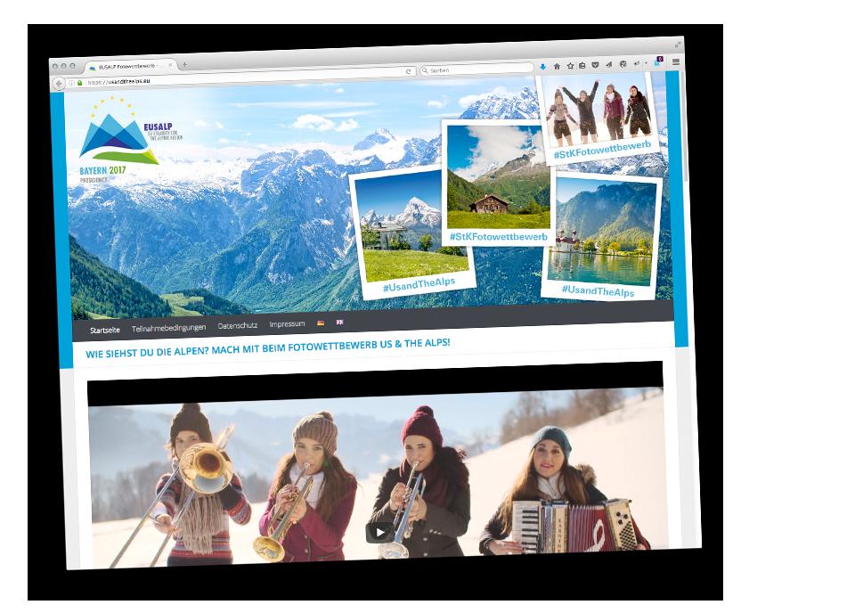 Bayerische Staatskanzlei - Fotowettbewerb Us & The Alps