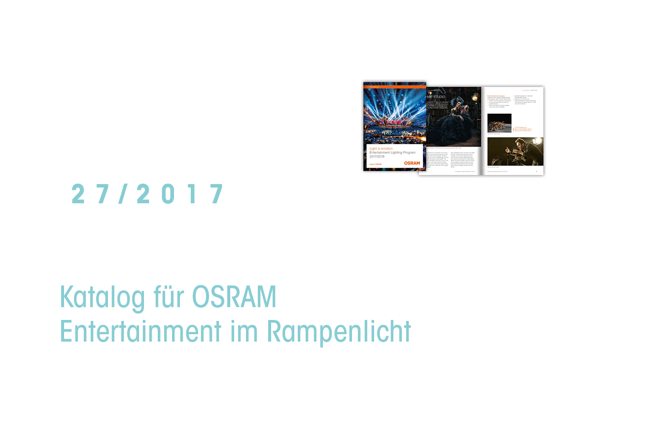katalog f r osram entertainment im rampenlicht l hr partner werbeagentur aus m nchen. Black Bedroom Furniture Sets. Home Design Ideas