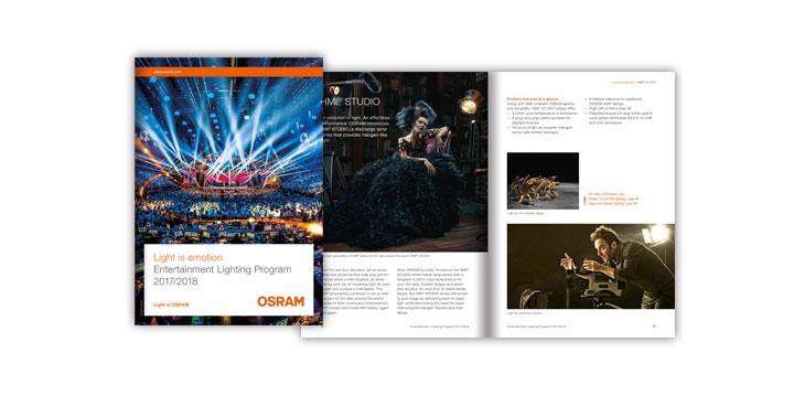 Katalog für OSRAM - Entertainment im Rampenlicht