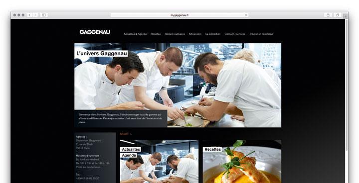 Dritte Website für Gaggenau - Unser Web-Rezept gelingt auch in Frankreich