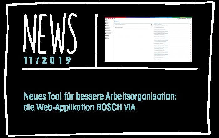 Neues Tool für bessere Arbeitsorganisation: die Web-Applikation BOSCH VIA