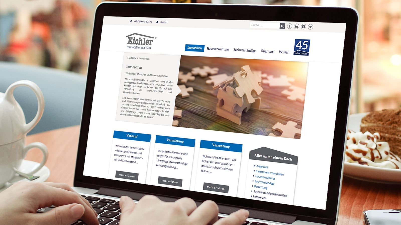 Website relaunch | Eichler Immobilien